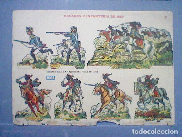Coleccionismo Recortables: HUSARES E INFANTERIA DE 1820 RECORTABLE LETRA B - Foto 4 - 147669410