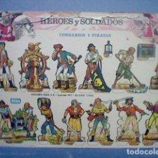 Coleccionismo Recortables: HEROES Y SOLDADOS CORSARIOS Y PIRATAS RECORTABLE LETRA A. Lote 147669498