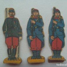 Coleccionismo Recortables: LOTE DE 3 FIGURAS DEL EJERCITO DE FRANCIA, 1ª GUERRA MUNDIAL . RECORTADOS Y MUY ANTIGUOS. Lote 147681734