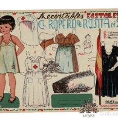 Coleccionismo Recortables: EL ROPERO DE ROSITA, Nº 2. UNIFORMES, ENFERMERA,CANTINERA Y MADRINA. Lote 148024382