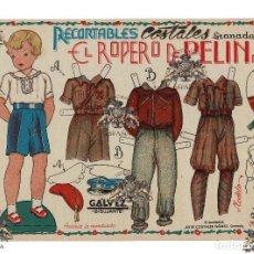Coleccionismo Recortables: RECORTABLES - EL ROPERO DE PEPÍN Nº 3 - GÁLVEZ . UNIFORMES DE REQUETE CARLISTA, PILOTO DE AVIACIÓN. Lote 148025098