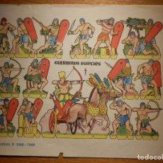 Coleccionismo Recortables: RECORTABLES - SOLDADITOS - GUERREROS EGIPCIOS - B 3080 - 1960 - 24 X 18 CM - BRUGUERA SERIE ESPADA. Lote 148115646