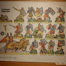 Coleccionismo Recortables: RECORTABLES - SOLDADITOS - LEGIONES ROMANAS - B 3079 - 1960 - 24 X 18 CM - BRUGUERA . Lote 148115770
