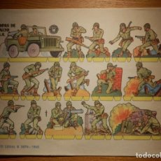 Coleccionismo Recortables: RECORTABLES - SOLDADITOS - TROPAS DE ASALTO U.S.A - B 3074 - 1960 - 24 X 18 CM - BRUGUERA . Lote 148115890
