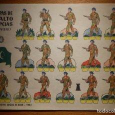 Coleccionismo Recortables: RECORTABLES - SOLDADITOS - TROPAS DE ASALTO EGIPCIAS 1958 - B 3220 - 1961 - 24 X 18 CM - BRUGUERA . Lote 148116134