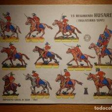 Coleccionismo Recortables: RECORTABLES - SOLDADITOS - 15 REGIMIENTO USARES - INGLATERRA - B 3220- 1961 - 24 X 18 CM - BRUGUERA . Lote 148116442