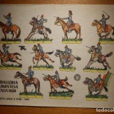 Coleccionismo Recortables: RECORTABLES - SOLDADITOS - CABALLERÍA PIAMONTESA ITALIA 1880 - B 3728-1961 - 24 X 18 CM - BRUGUERA . Lote 148117926