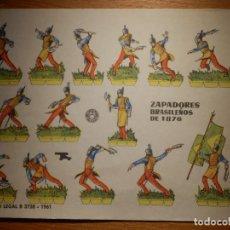 Coleccionismo Recortables: RECORTABLES - SOLDADITOS - ZAPADORES BRASILEÑOS 1876 - B-3728-1961 - 24 X 18 CM - BRUGUERA. Lote 148120590