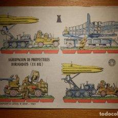 Coleccionismo Recortables: RECORTABLE - SOLDADITOS - AGRUPACIÓN PROYECTILES DIRIGIDOS EEUU- B-3728-1961 - 24 X 18 CM - BRUGUERA. Lote 148129162