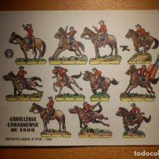 Coleccionismo Recortables: RECORTABLE - SOLDADITOS - CABALLERÍA CANADIENSE 1900 - B-3728-1961 - 24 X 18 CM - BRUGUERA. Lote 148129762