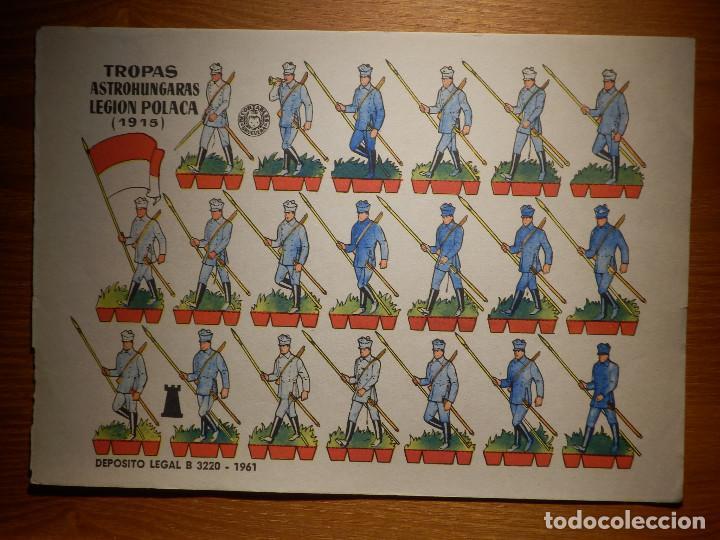 RECORTABLE - SOLDADITOS - TROPAS AUSTROHUNGARAS LEGION POLACA - B-3728-1961 - 24 X 18 CM - BRUGUERA (Coleccionismo - Recortables - Soldados)