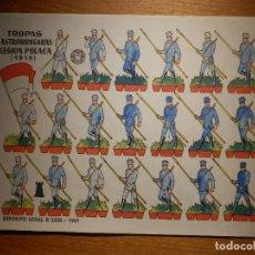 Coleccionismo Recortables: RECORTABLE - SOLDADITOS - TROPAS AUSTROHUNGARAS LEGION POLACA - B-3728-1961 - 24 X 18 CM - BRUGUERA. Lote 148494458