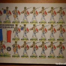 Coleccionismo Recortables: RECORTABLE - SOLDADITOS - GRANADEROS IMPERIALES - B-3728-1961 - 24 X 18 CM - BRUGUERA. Lote 148494686