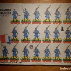 Coleccionismo Recortables: RECORTABLE - SOLDADITOS - INFANTERÍA FRANCESA 1916 - B-3728-1961 - 24 X 18 CM - BRUGUERA. Lote 148495230