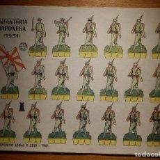 Coleccionismo Recortables: RECORTABLE - SOLDADITOS - INFANTERÍA JAPONESA 1931 - B-3728-1961 - 24 X 18 CM - BRUGUERA. Lote 148495406