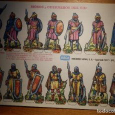 Coleccionismo Recortables: RECORTABLE - SOLDADITOS - MOROS Y GUERREROS DEL CID - EDICIONES BOGA . Lote 148495754