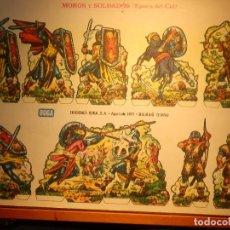 Coleccionismo Recortables: RECORTABLE - SOLDADITOS - MOROS Y SOLDADOS EPOCA DEL CID - EDICIONES BOGA . Lote 148496202