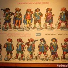 Coleccionismo Recortables: RECORTABLE - SOLDADITOS - ESPADACHINES Y MOSQUETEROS - EDICIONES BOGA . Lote 148496522