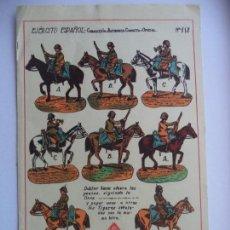 Coleccionismo Recortables: HERNANDO Nº 118 EJERCITO ESPAÑOL CABALLERIA BATIDORES CORNETA Y OFICIAL. Lote 150969002