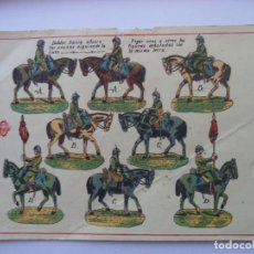 Coleccionismo Recortables: HERNANDO Nº 117 EJERCITO ESPAÑOL CABALLERIA SOLDADOS Y ABANDERADO. Lote 150970134