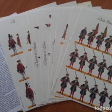 Coleccionismo Recortables: RECORTABLES : EL EJERCITO DE CARLOS III - 8 LÁMINAS. Lote 150983710