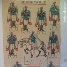 Coleccionismo Recortables: RECORTABLE DE FLECHAS Y PELAYOS .POSTGUERRA. Lote 152461674