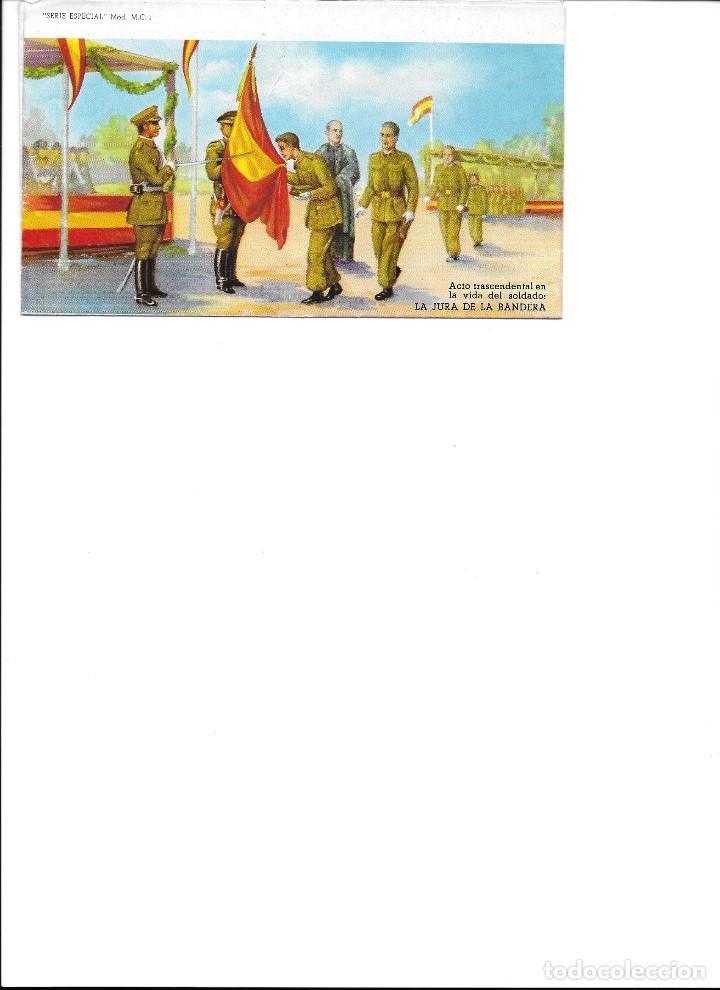 IMPRESO PARA ESCRIBIR CARTA DEL EJERCITO DE JURA DE LA BANDERA SERIE ESPECIAL M-C 1 (Coleccionismo - Recortables - Soldados)