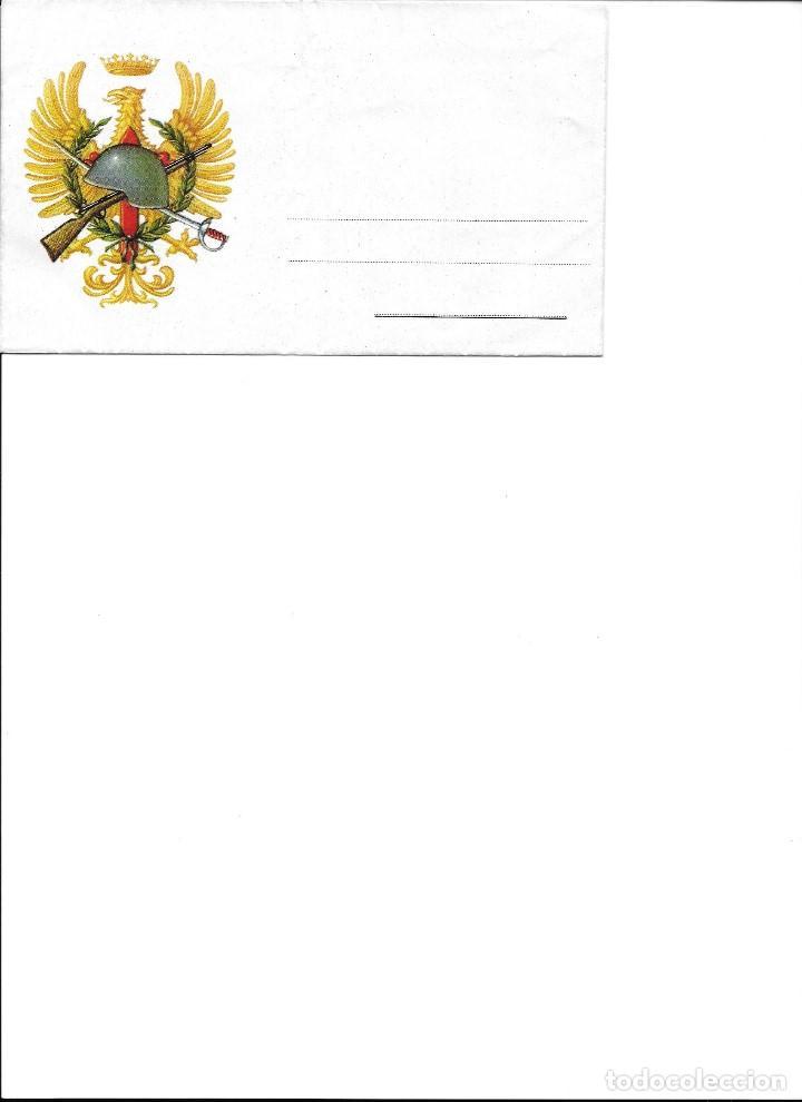 Coleccionismo Recortables: IMPRESO PARA ESCRIBIR CARTA DEL EJERCITO DE JURA DE LA BANDERA SERIE ESPECIAL M-C 1 - Foto 2 - 152906222