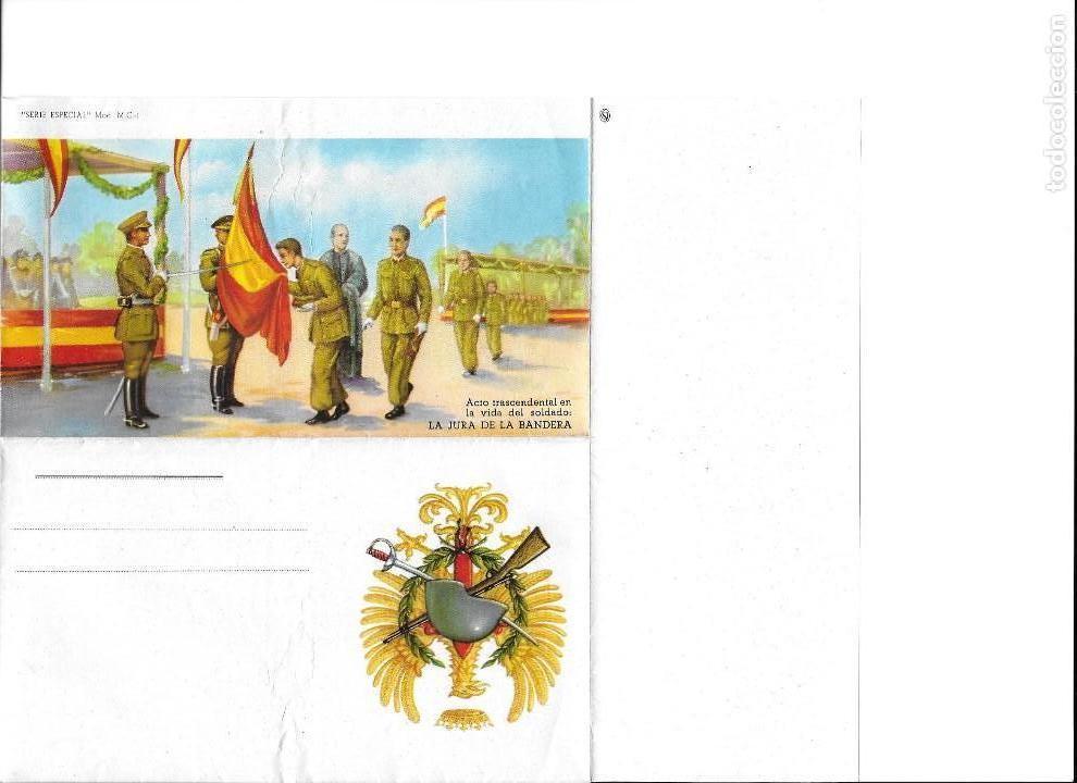 Coleccionismo Recortables: IMPRESO PARA ESCRIBIR CARTA DEL EJERCITO DE JURA DE LA BANDERA SERIE ESPECIAL M-C 1 - Foto 4 - 152906222