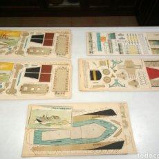 Coleccionismo Recortables: 5 RECORTABLES EDICIONES TBO. Lote 153572165