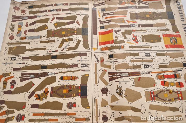 Coleccionismo Recortables: RECORTABLES EJERCITO ESPAÑOL. JUGUETES IMITACIÓN MADERA. TENIENTE ABANDERADO. CABO REGULARES.TERCIO. - Foto 4 - 154639114