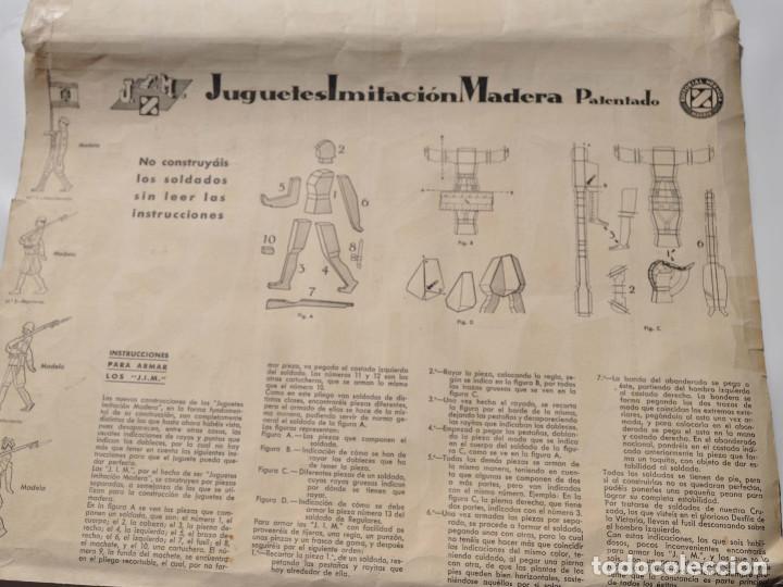 Coleccionismo Recortables: RECORTABLES EJERCITO ESPAÑOL. JUGUETES IMITACIÓN MADERA. TENIENTE ABANDERADO. CABO REGULARES.TERCIO. - Foto 5 - 154639114