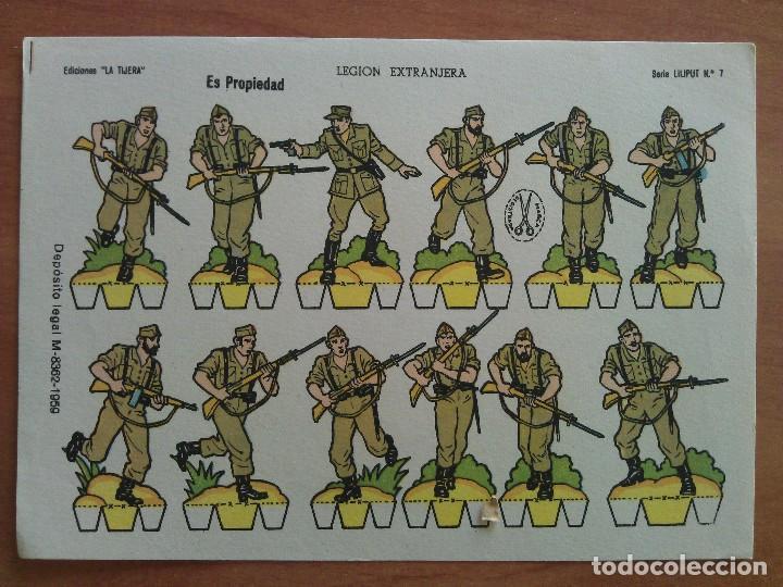 Nº 7 LEGÍÓN EXTRANJERA - SERIE LILIPUT / EDICIONES LA TIJERA (Coleccionismo - Recortables - Soldados)