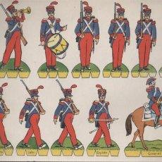 Coleccionismo Recortables: HOJA RECORTABLE EDITORIAL ROMA SOLDADOS Nº 15 RECORTES COMETA - INFANTERIA ESPAÑOLA 1825. Lote 155904810