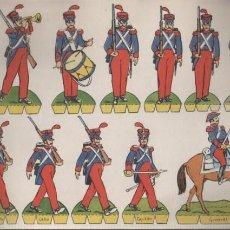 Coleccionismo Recortables: HOJA RECORTABLE EDITORIAL ROMA SOLDADOS Nº 15 RECORTES COMETA - INFANTERIA ESPAÑOLA 1825. Lote 155905598