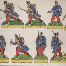 Coleccionismo Recortables: HOJA RECORTABLE EDITORIAL ROMA SOLDADOS Nº 16 RECORTES COMETA - INFANTERIA ESPAÑOLA EN CAMPAÑA 1906. Lote 155905766