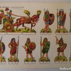 Coleccionismo Recortables: RECORTABLES HISTORICOS SERIE COMPLETA 8 LAMINAS EDITORIALMIGUEL A SALVATELLA. Lote 157714654