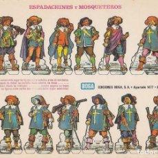 Coleccionismo Recortables: RECORTABLE: ESPADACHINES Y MOSQUETEROS. EDICIONES BOGA B. MEDIDAS 21 X 31 CMS.. Lote 158115906