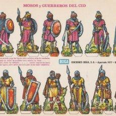 Coleccionismo Recortables: RECORTABLE: MOROS Y GUERREROS DEL CID EDICIONES BOGA D. MEDIDAS 21 X 31 CMS.. Lote 158116886