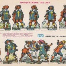 Coleccionismo Recortables: RECORTABLE: MOSQUETEROS DEL REY, EDICIONES BOGA E. MEDIDAS 21 X 31 CMS.. Lote 158117186