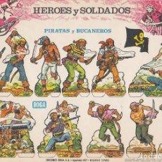 Coleccionismo Recortables: RECORTABLE, PIRATAS Y BUCANEROS. EDICIONES BOGA A. MEDIDAS 21 X 31 CMS. . Lote 158117390