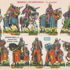 Coleccionismo Recortables: RECORTABLE, MOROS Y GUERREROS (A CABALLO). EDICIONES BOGA F. MEDIDAS 21 X 31 CMS. . Lote 158117570