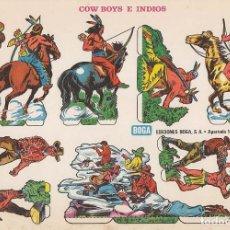 Coleccionismo Recortables: RECORTABLE: COW BOYS E INDIOS. EDICIONES BOGA H. MEDIDAS 21 X 31 CMS.. Lote 158117754