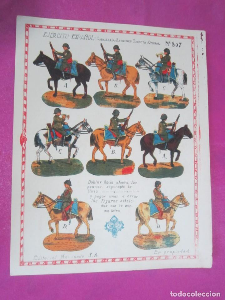 CABALLERIA DEL EJERCITO ESPAÑOL RECORTABLE 8O7 HERNANDO .1930 (Coleccionismo - Recortables - Soldados)