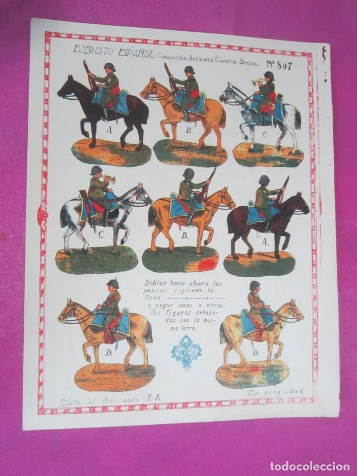 Coleccionismo Recortables: CABALLERIA DEL EJERCITO ESPAÑOL RECORTABLE 8O7 HERNANDO .1930 - Foto 2 - 158599294