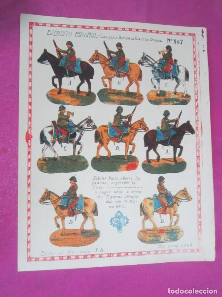Coleccionismo Recortables: CABALLERIA DEL EJERCITO ESPAÑOL RECORTABLE 8O7 HERNANDO .1930 - Foto 3 - 158599294