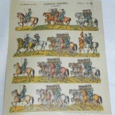 Coleccionismo Recortables: RECORTABLE EJERCITO ESPAÑOL. CAZADORES, ESTAMPERIA PALUZIE SERIE A Nº 29 , MIDE 40 X 28 CMS.. Lote 159208878