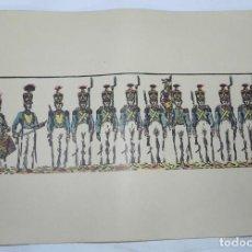 Colecionismo Recortáveis: SOLDADOS, COLOREADOS A MANO, EN CARTULINA AÑOS 40, MIDE 35 X 25 CMS.. Lote 159329442