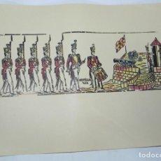 Colecionismo Recortáveis: SOLDADOS, ARTILLERIA, COLOREADOS A MANO, EN CARTULINA AÑOS 40, MIDE 35 X 25 CMS.. Lote 159329550