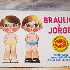 Coleccionismo Recortables: ANTIGUO RECORTABLE MIS MUÑECAS BRAULIO Y JORGE DE BRUGUERA. Lote 159569086